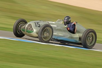 World © Octane Photographic Ltd. Donington Historic Festival, Friday 3rd May 2013. HGPCA Nuvolari Trophy pre-1940 GP cars with Hall and Hall. ERA GP1 - Duncan Ricketts. Digital Ref : 0645cb7d0021