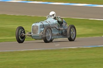World © Octane Photographic Ltd. Donington Historic Festival, Friday 3rd May 2013. HGPCA Nuvolari Trophy pre-1940 GP cars with Hall and Hall. Frazer Nash Shelsley - Geraint Lewis. Digital Ref : 0645cb7d0035