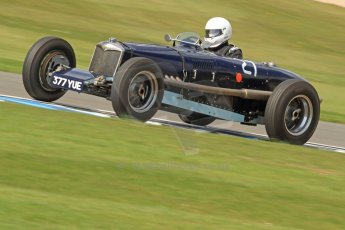 World © Octane Photographic Ltd. Donington Historic Festival, Friday 3rd May 2013. HGPCA Nuvolari Trophy pre-1940 GP cars with Hall and Hall. Riley ERA - David Hawkins. Digital Ref : 0645cb7d0075
