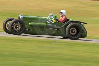 World © Octane Photographic Ltd. Donington Historic Festival, Friday 3rd May 2013. HGPCA Nuvolari Trophy pre-1940 GP cars with Hall and Hall. Frazer Nash Nurburg - Dick Smith. Digital Ref : 0645cb7d8207