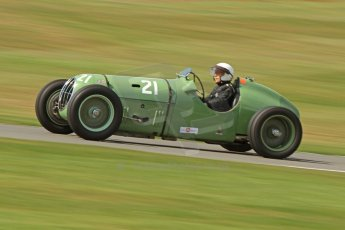 World © Octane Photographic Ltd. Donington Historic Festival, Friday 3rd May 2013. HGPCA Nuvolari Trophy pre-1940 GP cars with Hall and Hall. Alta - Paul Jaye. Digital Ref : 0645cb7d8218