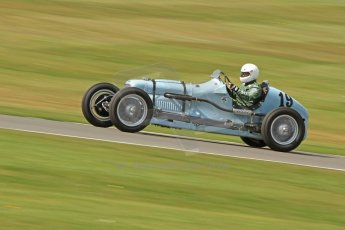 World © Octane Photographic Ltd. Donington Historic Festival, Friday 3rd May 2013. HGPCA Nuvolari Trophy pre-1940 GP cars with Hall and Hall. Frazer Nash Shelsley - Geraint Lewis. Digital Ref : 0645cb7d8235