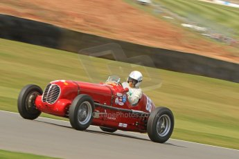 World © Octane Photographic Ltd. Donington Historic Festival, Friday 3rd May 2013. HGPCA Nuvolari Trophy pre-1940 GP cars with Hall and Hall. Maserati 6CM/4CM - Frederico Buratti. Digital Ref : 0645cb7d8254