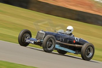 World © Octane Photographic Ltd. Donington Historic Festival, Friday 3rd May 2013. HGPCA Nuvolari Trophy pre-1940 GP cars with Hall and Hall. 1934/1935 Riley ERA - David Hawkins. Digital Ref : 0645cb7d8287