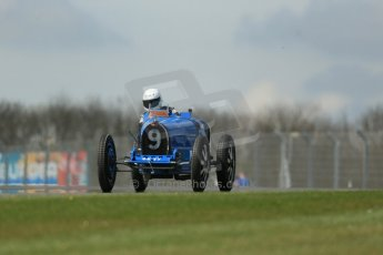 World © Octane Photographic Ltd. Donington Historic Festival, Friday 3rd May 2013. HGPCA Nuvolari Trophy pre-1940 GP cars with Hall and Hall. Bugatti T35B - Charles Knill-Jones. Digital Ref : 0645lw1d7268