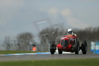 World © Octane Photographic Ltd. Donington Historic Festival, Friday 3rd May 2013. HGPCA Nuvolari Trophy pre-1940 GP cars with Hall and Hall. Maserati 6CM/4CM - Frederico Buratti. Digital Ref : 0645lw1d7317