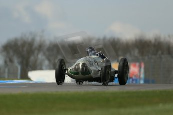 World © Octane Photographic Ltd. Donington Historic Festival, Friday 3rd May 2013. HGPCA Nuvolari Trophy pre-1940 GP cars with Hall and Hall. ERA GP1 - Duncan Ricketts. Digital Ref : 0645lw1d7319