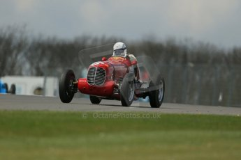 World © Octane Photographic Ltd. Donington Historic Festival, Friday 3rd May 2013. HGPCA Nuvolari Trophy pre-1940 GP cars with Hall and Hall. 1937 Maserati 6CM/4CM - Frederico Buratti. Digital Ref : 0645lw1d7463