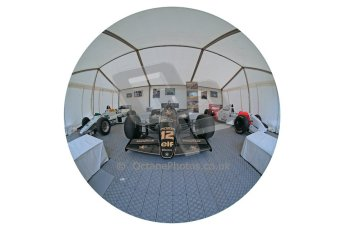World © Octane Photographic Ltd. Donington Historic Festival, Sunday 5th May 2013. Ayrton Senna Car Display. Digital Ref : 0646lw1d7906