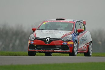 World © Octane Photographic Ltd. Donington Park General Unsilenced Test, Thursday 28th November 2013. United Autosports – Renault UK Clio Cup – Renault Clio RS – Finlay Crocker. Digital Ref : 0870cb1d8160