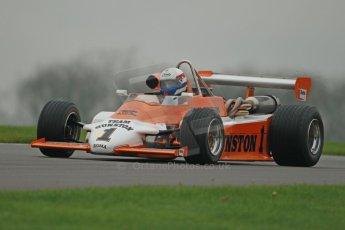 World © Octane Photographic Ltd. Donington Park General Unsilenced Test, Thursday 28th November 2013. Lance, Ex-Ian Scheckter , Team Gunston March 832 Mazda , Historic F2.Formula Atlantic. Digital Ref : 0870cb1d8183