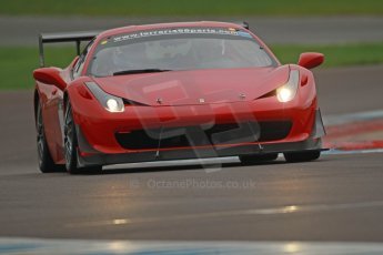 World © Octane Photographic Ltd. Donington Park General Unsilenced Test, Thursday 28th November 2013. Ferrari 458 BAMD - McGuinness/Nelson. Digital Ref : 0870cb1d8345