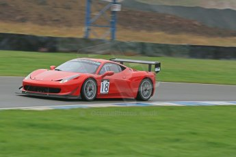 World © Octane Photographic Ltd. Donington Park General Unsilenced Test, Thursday 28th November 2013. Ferrari 458 BAMD - McGuinness/Nelson. Digital Ref : 0870cb1dx8305