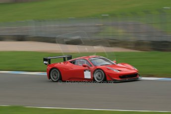World © Octane Photographic Ltd. Donington Park General Unsilenced Test, Thursday 28th November 2013. Ferrari 458 BAMD - McGuinness/Nelson. Digital Ref : 0870cb1dx8533