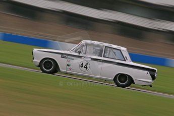 World © Octane Photographic Ltd. Donington Park General un-silenced test 25th April 2013. Ford Lotus Cortina - John Griffiths/James Thorpe. Digital Ref : 1cb1d4983