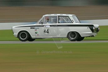 World © Octane Photographic Ltd. Donington Park General un-silenced test 25th April 2013. Ford Lotus Cortina - John Griffiths/James Thorpe. Digital Ref : 0641cb1d5119