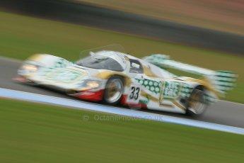 "World © Octane Photographic Ltd. Donington Park General un-silenced test 25th April 2013. Henrik Linberg - Porsche 962C Dauer Racing ""Tic Tac"" - Group C (Gp.C) Racing. Digital Ref : 0641cb1d5540"