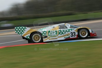 "World © Octane Photographic Ltd. Donington Park General un-silenced test 25th April 2013. Henrik Linberg - Porsche 962C Dauer Racing ""Tic Tac"" - Group C (Gp.C) Racing. Digital Ref : 0641cb1d6006"
