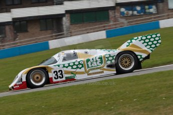 "World © Octane Photographic Ltd/Chris Enion. Donington Park General un-silenced test 25th April 2013. Henrik Linberg - Porsche 962C Dauer Racing ""Tic Tac"" - Group C (Gp.C) Racing. Digital Ref : 0641ce1d2565"