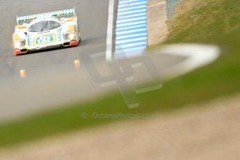 """World © Octane Photographic Ltd/Chris Enion. Donington Park General un-silenced test 25th April 2013. Henrik Linberg - Porsche 962C Dauer Racing """"Tic Tac"""" - Group C (Gp.C) Racing. Digital Ref : 0641ce7d6902"""