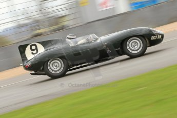 World © Octane Photographic Ltd. Donington Park General un-silenced testing, April 30th 2013. Benjamin Eastick - Jaguar D-Type. Digital Ref : 0643cb7d7587