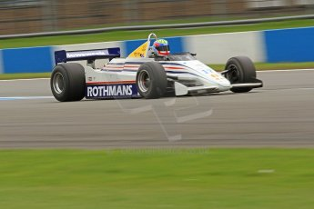 World © Octane Photographic Ltd. Donington Park General un-silenced testing, April 30th 2013. March 821 - Rothmans - Mark Dwyer, Historic F1. Digital Ref : 0643cb7d7736