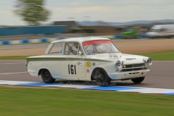 World © Octane Photographic Ltd. Donington Park General un-silenced testing, April 30th 2013. Alan Letts/Geoffrey Letts - Ford Lotus Cortina. Digital Ref : 0643cb7d7760