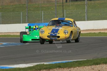 World © Octane Photographic Ltd. Donington Park General un-silenced testing, April 30th 2013. Lotus Elite - Barry Davison/John Davison and Nick Fleming - Ralt RT1 - SPT Motorsport. Digital Ref : 0643lw1d6515