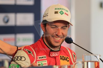 World © Octane Photographic Ltd. German Touring Cars (DTM) Brands Hatch Sunday 19th May 2013. Post Race Conference. Phoenix Racing – Audi RS5 DTM – Mike Rockenfeller. Digital Ref: