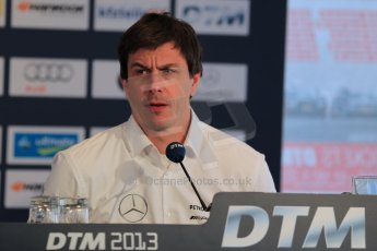 World © Octane Photographic Ltd. German Touring Cars (DTM) Brands Hatch Sunday 19th May 2013. Post Race Conference. Head of Mercedes Motorsport – Toto Wolff. Digital Ref: 0689ce1d3233