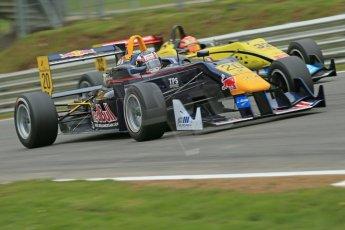 World © Octane Photographic Ltd. FIA European F3 Championship. Friday 17th May 2013. EuroInternational – Dallara F312 Mercedes – Tom Blomqvist and Double R Racing – Dallara F313 Mercedes – Sean Gelael. Digital Ref :