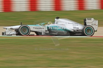 World © Octane Photographic Ltd. Formula 1 Winter testing, Barcelona – Circuit de Catalunya, 19th February 2013. Mercedes AMG Petronas  F1 W04 – Nico Rosberg. Digital Ref: 0576cb7d8230