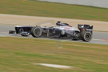 World © Octane Photographic Ltd. Formula 1 Winter testing, Barcelona – Circuit de Catalunya, 19th February 2013. Williams FW35, Pastor Maldonado. Digital Ref: 0576cb7d8295