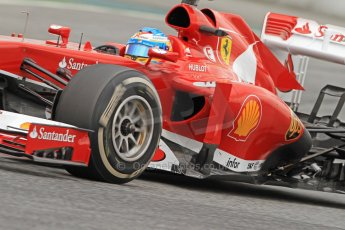 World © Octane Photographic Ltd. Formula 1 Winter testing, Barcelona – Circuit de Catalunya, 19th February 2013. Ferrari F138 – Fernando Alonso. Digital Ref: 0576cb7d8334