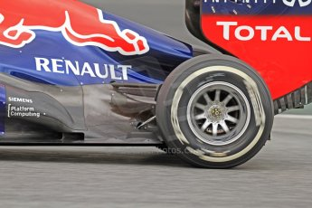 World © Octane Photographic Ltd. Formula 1 Winter testing, Barcelona – Circuit de Catalunya, 19th February 2013. Infiniti Red Bull Racing RB9 exhaust detail. Sebastian Vettel. Digital Ref: 0576cb7d8405