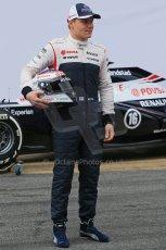 World © Octane Photographic Ltd. Formula 1 Winter testing, Barcelona – Circuit de Catalunya, 19th February 2013. Williams FW35 launch, Valterri Bottas. Digital Ref: 0576lw1d1088