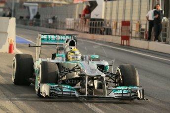 World © Octane Photographic Ltd. Formula 1 Winter testing, Barcelona – Circuit de Catalunya, 19th February 2013. Mercedes AMG Petronas  F1 W04 – Nico Rosberg. Digital Ref: 0576lw1d1148