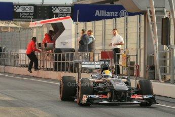 World © Octane Photographic Ltd. Formula 1 Winter testing, Barcelona – Circuit de Catalunya, 19th February 2013. Sauber C32, Esteban Gutierrez Digital Ref: 0576lw1d1199