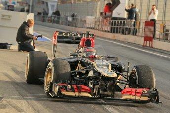 World © Octane Photographic Ltd. Formula 1 Winter testing, Barcelona – Circuit de Catalunya, 19th February 2013. Lotus E31, Kimi Raikkonen. Digital Ref: 0576lw1d1221