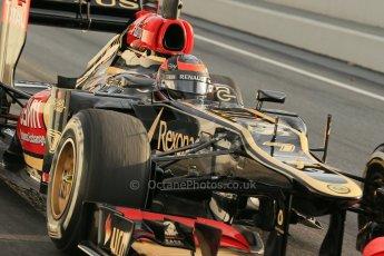 World © Octane Photographic Ltd. Formula 1 Winter testing, Barcelona – Circuit de Catalunya, 19th February 2013. Lotus E31, Kimi Raikkonen. Digital Ref: 0576lw1d1233