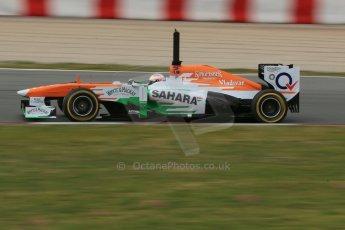 World © Octane Photographic Ltd. Formula 1 Winter testing, Barcelona – Circuit de Catalunya, 19th February 2013. Sahara Force India VJM06 – Paul di Resta. Digital Ref: 0576lw1d1274