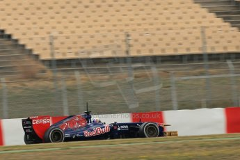 World © Octane Photographic Ltd. Formula 1 Winter testing, Barcelona – Circuit de Catalunya, 19th February 2013. Toro Rosso STR8, Daniel Ricciardo. Digital Ref: 0576lw1d1558
