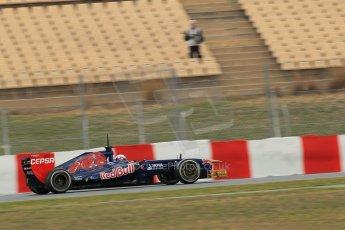 World © Octane Photographic Ltd. Formula 1 Winter testing, Barcelona – Circuit de Catalunya, 19th February 2013. Toro Rosso STR8, Daniel Ricciardo. Digital Ref: 0576lw1d1581