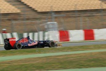 World © Octane Photographic Ltd. Formula 1 Winter testing, Barcelona – Circuit de Catalunya, 19th February 2013. Toro Rosso STR8, Daniel Ricciardo. Digital Ref: 0576lw1d1600
