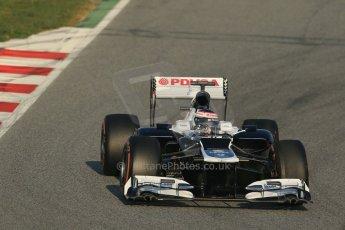 World © Octane Photographic Ltd. Formula 1 Winter testing, Barcelona – Circuit de Catalunya, 20th February 2013. Williams FW35, Valterri Bottas. Digital Ref: