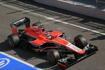 World © Octane Photographic Ltd. Formula 1 Winter testing, Barcelona – Circuit de Catalunya, 20th February 2013. Marussia MR02, Max Chilton. Digital Ref: