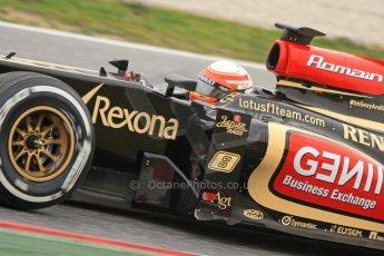 World © Octane Photographic Ltd. Formula 1 Winter testing, Barcelona – Circuit de Catalunya, 21st February 2013. Lotus E31, Romain Grosjean. Digital Ref: 0578cb7d2599