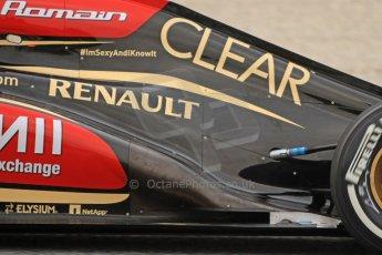 World © Octane Photographic Ltd. Formula 1 Winter testing, Barcelona – Circuit de Catalunya, 21st February 2013. Lotus E31, Romain Grosjean. Digital Ref: 0578cb7d2614