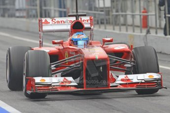 World © Octane Photographic Ltd. Formula 1 Winter testing, Barcelona – Circuit de Catalunya, 21st February 2013. Ferrari F138 - Fernando Alonso. Digital Ref: 0578cb7d8885