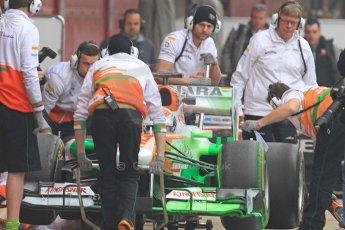 World © Octane Photographic Ltd. Formula 1 Winter testing, Barcelona – Circuit de Catalunya, 21st February 2013. Sahara Force India VJM06 – Adrian Sutil. Digital Ref: 0578cb7d8908
